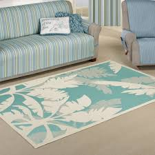 koa rectangle rug teal