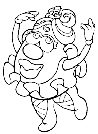 mr and mrs potato head coloring pages. Delighful Potato Mrs Potato Head Coloring Page In Mr And Coloring Pages D