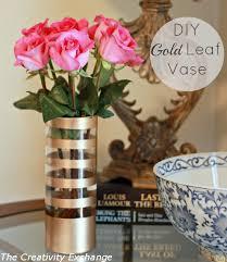 diy gold leaf vase how to paint on