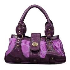 ChatWithCoach Coach Stud Lock Signature Small Purple Totes ENV