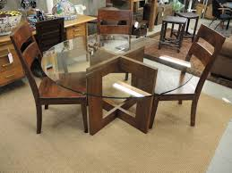 impressive small apartment decoration design with dark brown affordable home furniture s round clear glass dining table frameless using