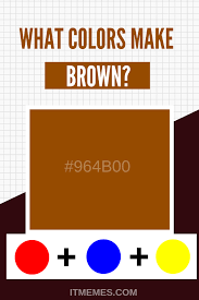brown color mixing guide