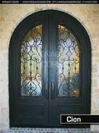 nice front doorsWrought Iron Double Door  Front Doors  Foyers  Pinterest  Iron