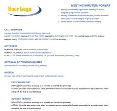 Microsoft Meeting Notes Template Meeting Minutes Format Template Report Writing Format