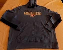 Majestic Hoodie Size Chart Details About Oklahoma City Thunder Pullover Hoodie Large Charcoal Gray Cool Logo Majestic Nba