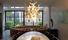 contemporary lighting dining room. Fractal Lighting Fixture Contemporary Dining Room