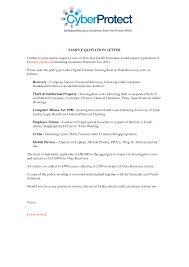Insurance Quotation Letter Sample 44billionlater