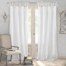 60 inch wide curtains. 60 Inch Wide Curtains 24 Elrene Home Fashions Crushed Semi Sheer Adjustable Tie Top Single H