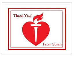 Red Heart Personalized Thank You Or Note Cards Style 3