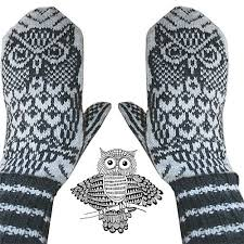 Mittens Pattern Cool Knitting Patterns Mittens Nattugla Night Owl Mittens Pattern By