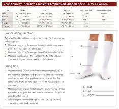 Point 6 Socks Size Chart Therafirm Size Chart Contourmd