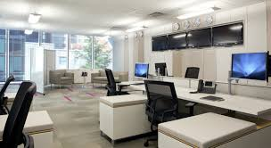 led retrofits for commercial applications the basics alcon office suspended fixture graphic design office beauteous modern home office interior ideas