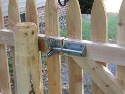 wood fence latch lock