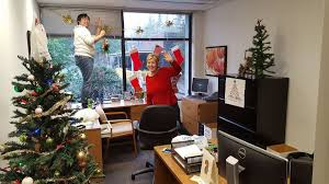 office deco. The Accounting Team Getting Ready For The Annual Christmas Office Deco  Contest - VISION33 Vancouver Office Deco