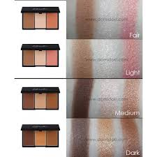 please note face form in fair and light e with contour powder highlighter and blush face form in um and dark e available with contour powder