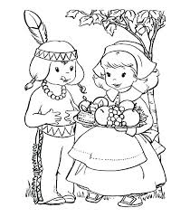 Pilgrims Coloring Pages Happy Turkey With The Pilgrim Hat Free