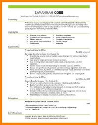Security Guard Resume 100 Security Guard Resume Sample Job Apply Form 36
