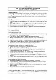 Best Ideas Of Sample Resume For Merchandiser Job Description For