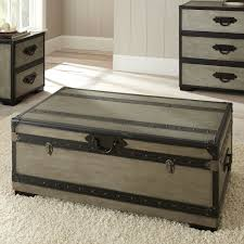 ... Coffee Table, Cozy Grey Rectangle Coastal Wood Chest Coffee Table With  Storage Design To Improve ...