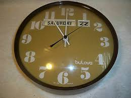 bulova vintage electric wall clock for
