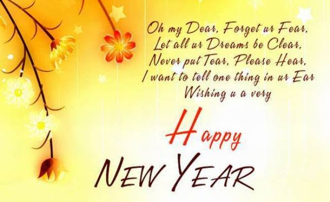 happy new year sms english