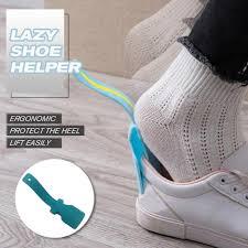 <b>1PC Lazy Shoe</b> Helper Unisex Handled Shoe Horn Easy on & Off ...