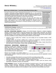 Sample Manager Resume Resumes Operations Telecom Objectives Customer