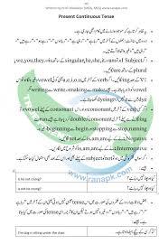 Present Continuous Tense Urdu