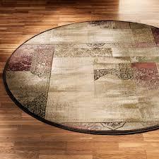 ornate block round rug