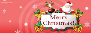 Reindeer Santa Merry Christmas Banner Facebook Cover, Reindeer ...