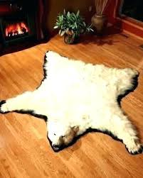 real polar bear rug faux for a skin white with head genuine 8 foot big bear rug