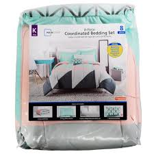 mainstays coordinated bedding set triangles king