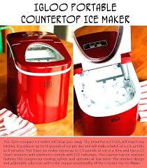 ice maker igloo igloo portable ice maker red igloo countertop