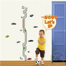 Kids Wall Growth Chart Us 4 5 Cars Height Sticker Wall Stickers For Kids Rooms Boys Growth Chart Stadiometer Kids Wall Stickers Height Ruler Ay7067 In Wall Stickers From