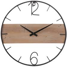 industrial wood wall clock hobby