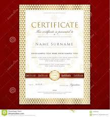 Certificate Template Printable Editable Design For