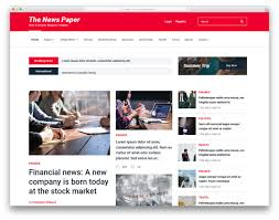 Newspaper Html Template 28 Best Free News Website Templates 2019 Colorlib
