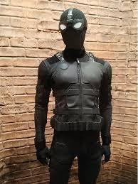 leather jacket spiderman black jacket