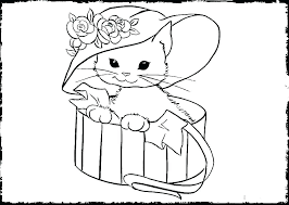 Cute Kitten Coloring Pages Cute Kitty Coloring Pages Cute Kitten