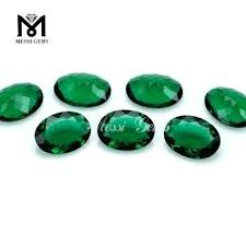 purple glass gems bulk factory good quality gem cut oval emerald glass gems bulk
