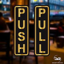 push pull window door vinyl decal
