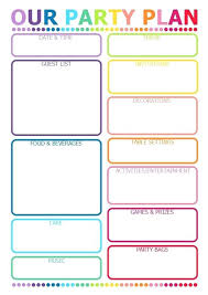 Lovely Event Planning Template Elegant Free Printable Kids Party ...
