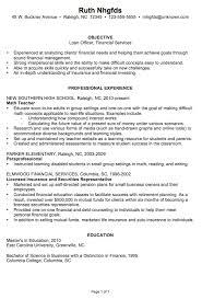 Chronological Resume Sample Loan Officer
