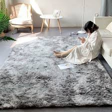 deluxe soft faux sheepskin gy area floor rugs children play carpet square for living bedroom