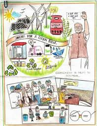 Cleanliness Chart For School From Kameng To Kanker Paintings By Children Depicting
