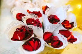 Paper Cones For Flower Petals Rose Petal In A Paper Cone For Wedding Ceremony Buy Photos Ap