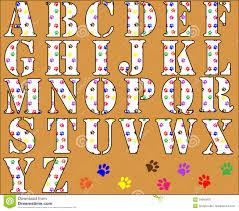 Paw Print Alphabet Letters Stock Illustration Illustration