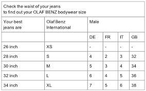 38 High Quality Olaf Benz Size Chart