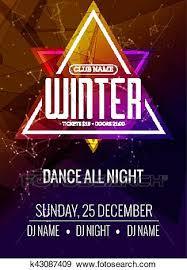 Art Event Flyer Dance Party Dj Battle Poster Design Winter Disco Party