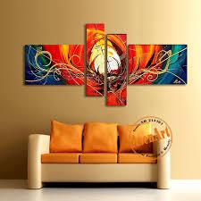terrific abstract wall art canvas oil painting handmade modern best